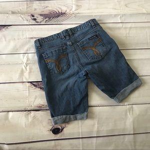 Calvin Klein | rolled hem denim knee length shorts